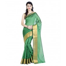 Deals, Discounts & Offers on Women Clothing - Chandrakala Green Art Silk Saree