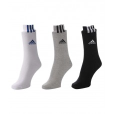 Deals, Discounts & Offers on Accessories - Adidas Flat Knit Crew Socks - Pack Of 3