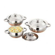 Deals, Discounts & Offers on Home & Kitchen - Flat 23% off on Airan Aroma Pot Handi Set 3 Pcs