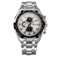 Deals, Discounts & Offers on Men - Flat 68% off on Curren Silver Round Analog Watch