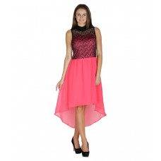 Deals, Discounts & Offers on Women Clothing - Flat 75% off on Mayra Pink Poly Georgette Dresses