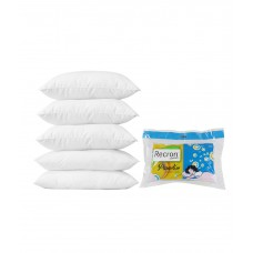 Deals, Discounts & Offers on Home Decor & Festive Needs - Recron certified Paradise White Cotton Pillows - Pack of 5
