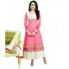 Deals, Discounts & Offers on Women Clothing - RP - BOUTIQUE Pink Georgette Semi Stitched Suit