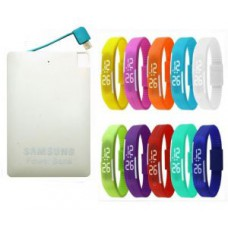 Deals, Discounts & Offers on Power Banks - Samsung Slim Credit Card Power Bank - 2600mah With LED Watch