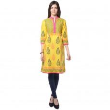 Deals, Discounts & Offers on Women Clothing - Navriti Women's Block Print Cotton Kurta