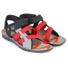 Deals, Discounts & Offers on Foot Wear - FTR Men's Black,Grey and Red Floaters