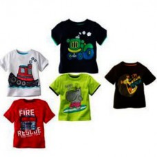 Deals, Discounts & Offers on Kid's Clothing - Kids Printed Round Neck Cotton T-shirt - Set Of 5