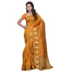 Deals, Discounts & Offers on Women Clothing - Mimosa Woven Kanjivaram Handloom Tussar Silk Sari