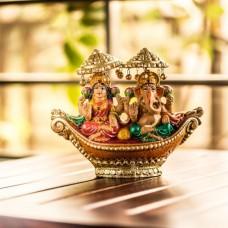 Deals, Discounts & Offers on Home Decor & Festive Needs - Ganesha & Laxmi Idols - Terracotta Hand Painted Laxmi And Ganesh Idols