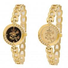 Deals, Discounts & Offers on Women - Swisstyle SS-1403BLK-1403GLD analog watch combo for women