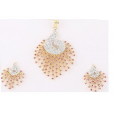 Deals, Discounts & Offers on Earings and Necklace - M Gold Red gold-plated Pendant Set For Women