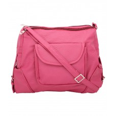 Deals, Discounts & Offers on Accessories - Borse Pink P.U. Sling Bag