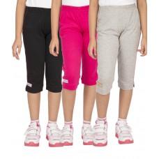 Deals, Discounts & Offers on Women Clothing - Ocean Race Multicolor Cotton Elastic Capris