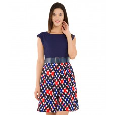 Deals, Discounts & Offers on Women Clothing - Tokyo Talkies Navy Boat Neck Dress