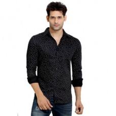 Deals, Discounts & Offers on Men Clothing - London Bee Mens Cotton L Print Long Sleeve Slim Fit Shirt