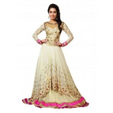Deals, Discounts & Offers on Women Clothing - Shraddha Kapoor White Embroidered Anarkali Salawar Suit