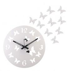 Deals, Discounts & Offers on Home Decor & Festive Needs - JaipurCrafts DIY 3D Acrylic Butterfly Designer wall clock