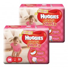 Deals, Discounts & Offers on Baby Care - Huggies Ultra Soft Pants Medium Size Premium Diapers for Girls