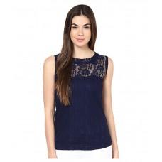 Deals, Discounts & Offers on Women Clothing - Flat 44% off on Mayra Navy Net Regular Tops
