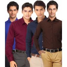 Deals, Discounts & Offers on Men Clothing - Flat 55% off on Unique for Men Shirts Combo
