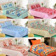 Deals, Discounts & Offers on Home Decor & Festive Needs - Pack Of 5 Cotton Double Bedsheet Set Collection One