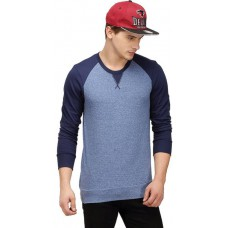 Deals, Discounts & Offers on Men Clothing - Campus Sutra Solid Men's Round Neck Blue T-Shirt