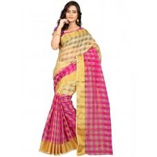 Deals, Discounts & Offers on Women Clothing - FabPandora Solid Fashion Raw Silk Sari
