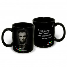 Deals, Discounts & Offers on Accessories - Hot Muggs Abraham Lincoln Quote on Walking Slowly but Surely Inspirational Mug