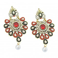 Deals, Discounts & Offers on Earings and Necklace - Surat Diamond Floral Shaped Chandbali Earrings for Women