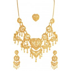 Deals, Discounts & Offers on Earings and Necklace - Variation Gold Plated Heart Necklace Set