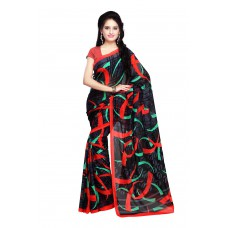 Deals, Discounts & Offers on Women Clothing - Fabdeal Women Georgette Printed Saree with Blouse Piece