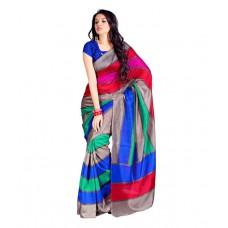 Deals, Discounts & Offers on Women Clothing - Aabha Multi Color Bhagalpuri Silk Saree