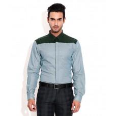 Deals, Discounts & Offers on Men Clothing - John Players Green Trim Fit Partywear Shirt