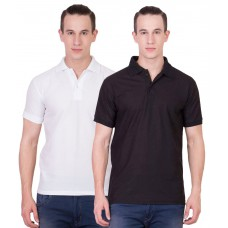 Deals, Discounts & Offers on Men Clothing - Sara Gym Polo T-shirts Combo -Set of 2