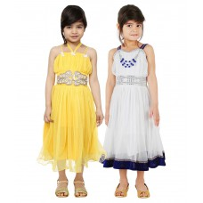 Deals, Discounts & Offers on Kid's Clothing - Tiny Toon Pack of 2 Party Wear Dresses For Kids