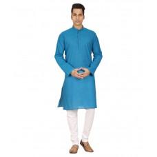 Deals, Discounts & Offers on Men Clothing - Trustedsnap Blue Kurta Pyjama Sets