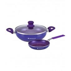 Deals, Discounts & Offers on Home & Kitchen - Wonderchef Blue Cookware Set - 3 Pcs