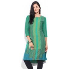Deals, Discounts & Offers on Women Clothing - IMARA Printed Women's Straight Kurta