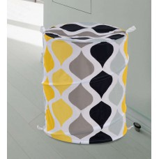 Deals, Discounts & Offers on Home & Kitchen - Home Ogee Print Polyester 70L Yellow Laundry Bag for Rs.399