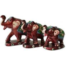 Deals, Discounts & Offers on Accessories - JaipurCrafts Elephant Family Showpiece