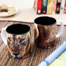 Deals, Discounts & Offers on Accessories - Hot Muggs Wild Focus I'm The King Ceramic Mug, 350ml
