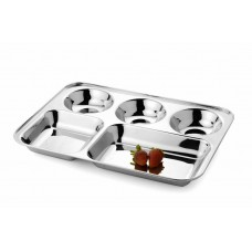 Deals, Discounts & Offers on Home Appliances - Mayur Exports Stainless Steel Compartment Plate - 5 in 1