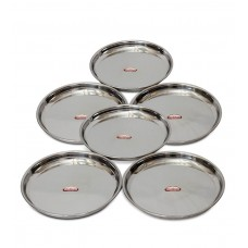 Deals, Discounts & Offers on Accessories - Shubham Steel Dinner Plates-6 pcs