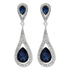 Deals, Discounts & Offers on Earings and Necklace - BIG Tree Silver Blue Chandelier Earring for women