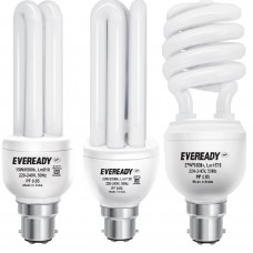 Deals, Discounts & Offers on Electronics - Eveready BHK 20, 27 and 15-Watt Combo CFL- Pack of 3