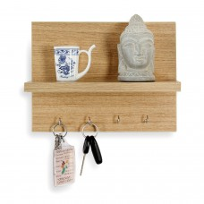 Deals, Discounts & Offers on Accessories - Forzza Mia Wall Shelf with Key Holder Matte Finish
