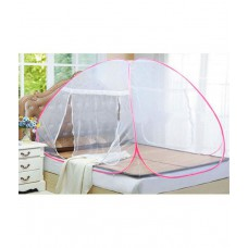 Deals, Discounts & Offers on Home Decor & Festive Needs - ASP Healthcare Pink Plain Polyester Mosquito Net For Double Bed