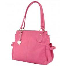 Deals, Discounts & Offers on Women - Butterflies Pink P.U. Shoulder Bag