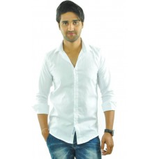 Deals, Discounts & Offers on Men Clothing - Feed Up Men's Solid Casual White Shirt
