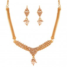 Deals, Discounts & Offers on Earings and Necklace - Variation White Beads Fashion Necklace